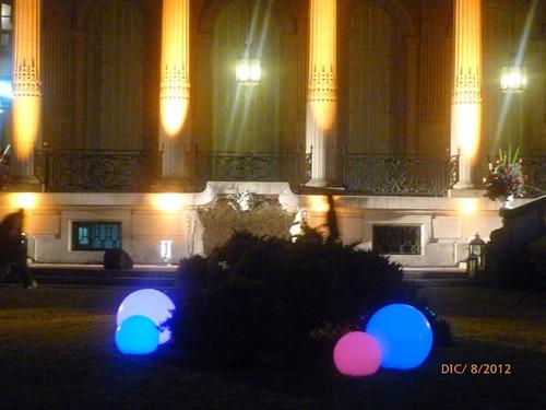 puff  luminosos - tu evento distinto - barras, esferas led