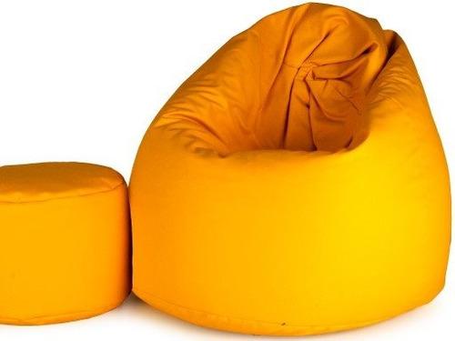 puff maça redondo + apoio pés - sem enchimento - vazio