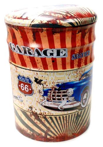 puff metalico vintage garage route 66 mod 545 grande