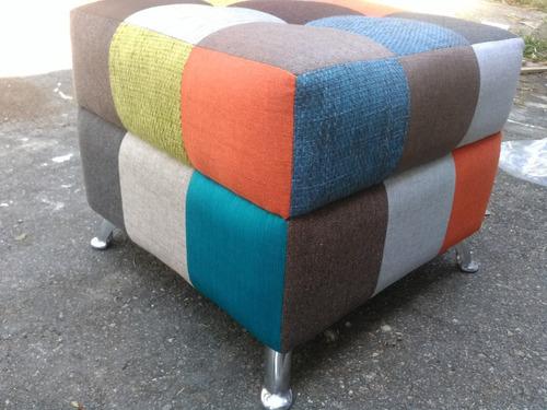 puff modernosl cubos patchwor originale.. colores en tela