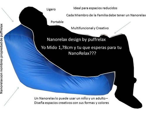 puff nano relax lona tela adulto niño relleno 100% original