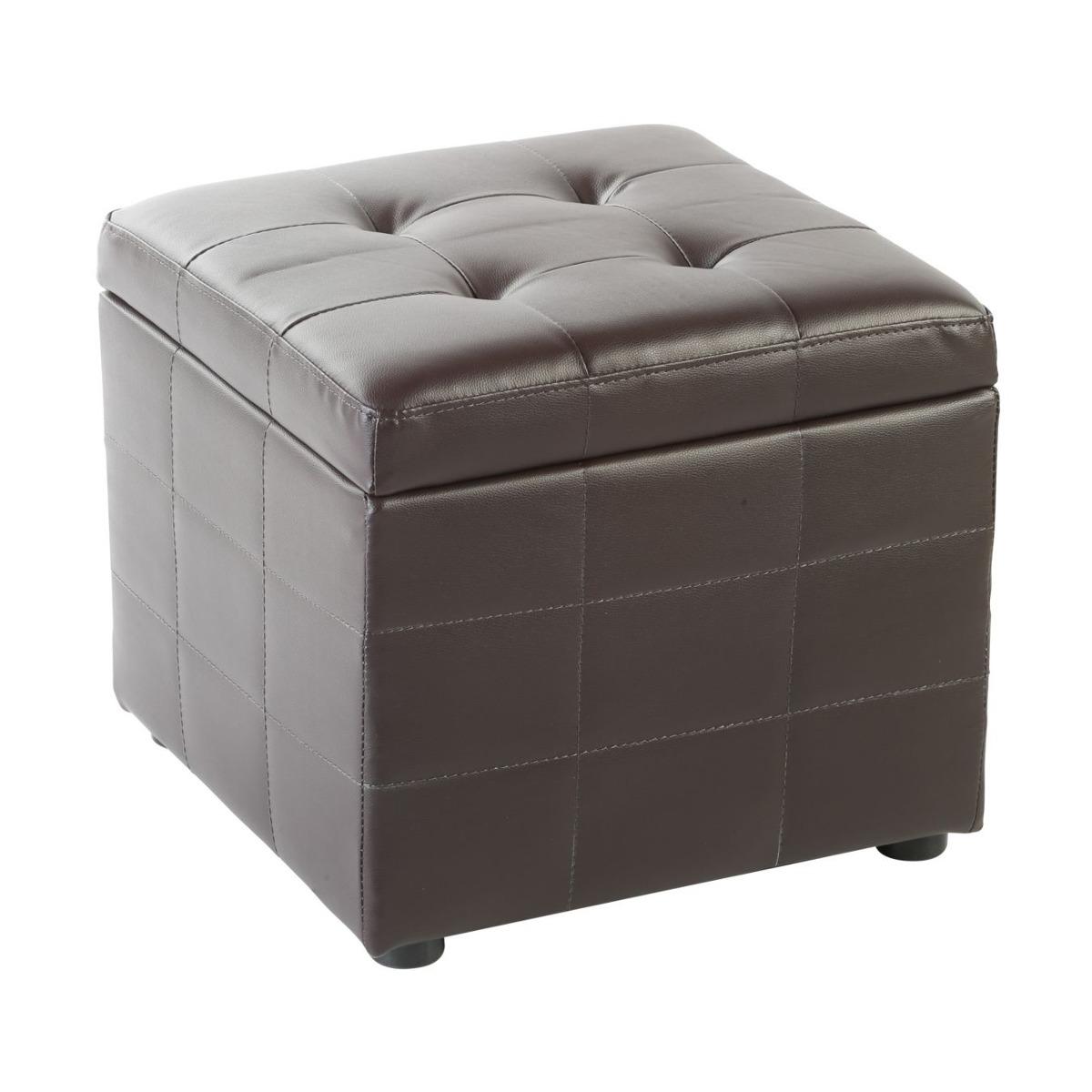 Puff Ottoman Cube Chocolate 45x45x40.5 Cm Muebles Sill Acu2 ...