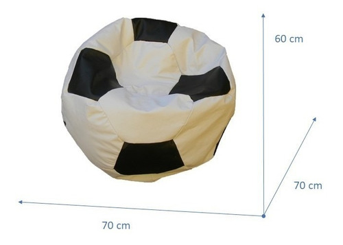 puff pelota de fútbol tamaño m eco cuero