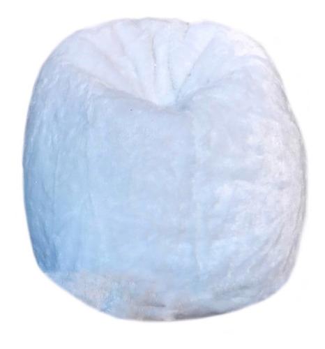 puff pera redondo cheio pelúcia beneficio mercado ponto pufi