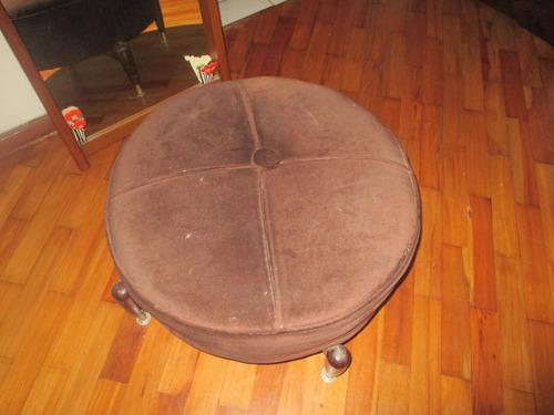 puff ,potrona,sillon circular vintage mesa de noche boudoir
