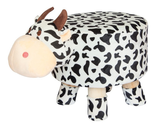 puff pufs pufe redondo banquinho banqueta infantil vaca