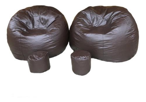 puff redondo gigante + apoio pés ( vazios ) pufe decoração