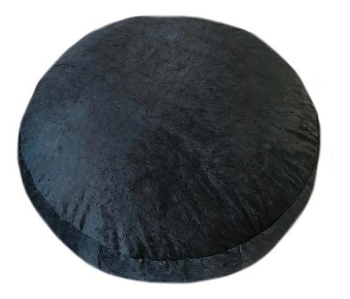puff redondo suede animale importado 100x25 *sem enchimento