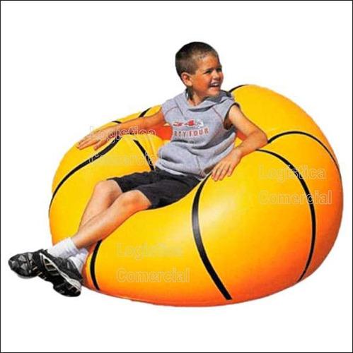 puff silla sillon inflable balon basket 114x112x71 cm
