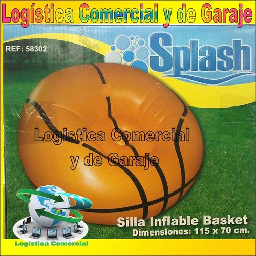 puff silla sillon inflable balon basket 115x70 cm bestway