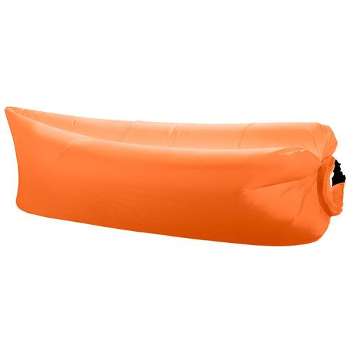 puff sofa inflavel saco dormir camping laranja