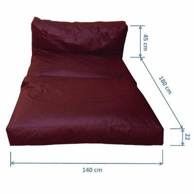 Puff sof que vira cama casal acquablock imperme vel for Sofa que vira beliche
