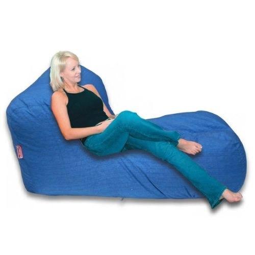 puff sofa relax lounge lona tela con relleno 100% original