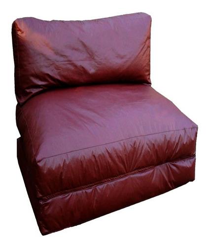 puff sofá  vira cama solteiro * vazio * sem enchimento