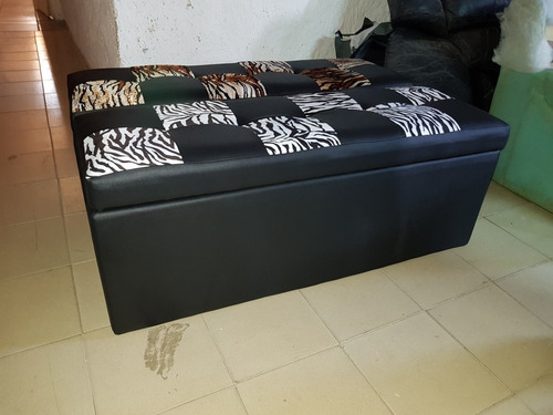 puff tipo baul para camas 120x45x40 con patas cromadas