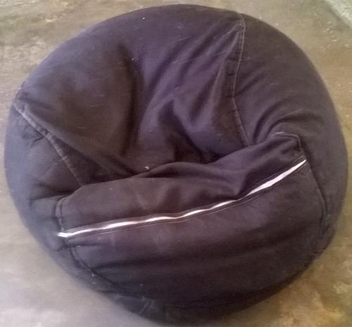 puff tipo pera de tela usado