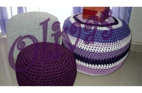 puff totora calidad lavable color divinos olivas+ cuotas!!