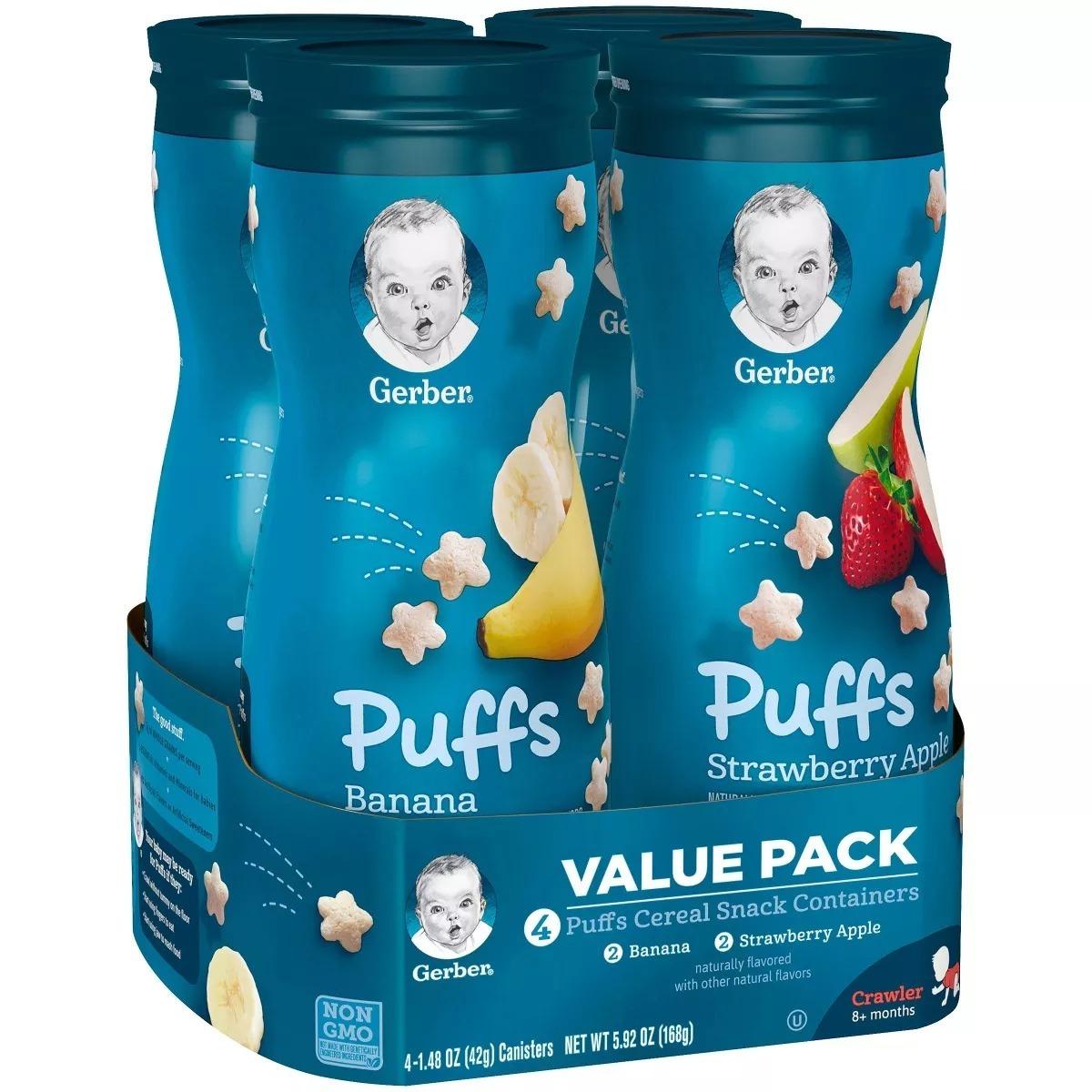 Puffs Graduates Gerber Kit Com 4 Cereal Biscoito Para Bebs R 109 Puff Strawberry Apple 42 Gram Carregando Zoom