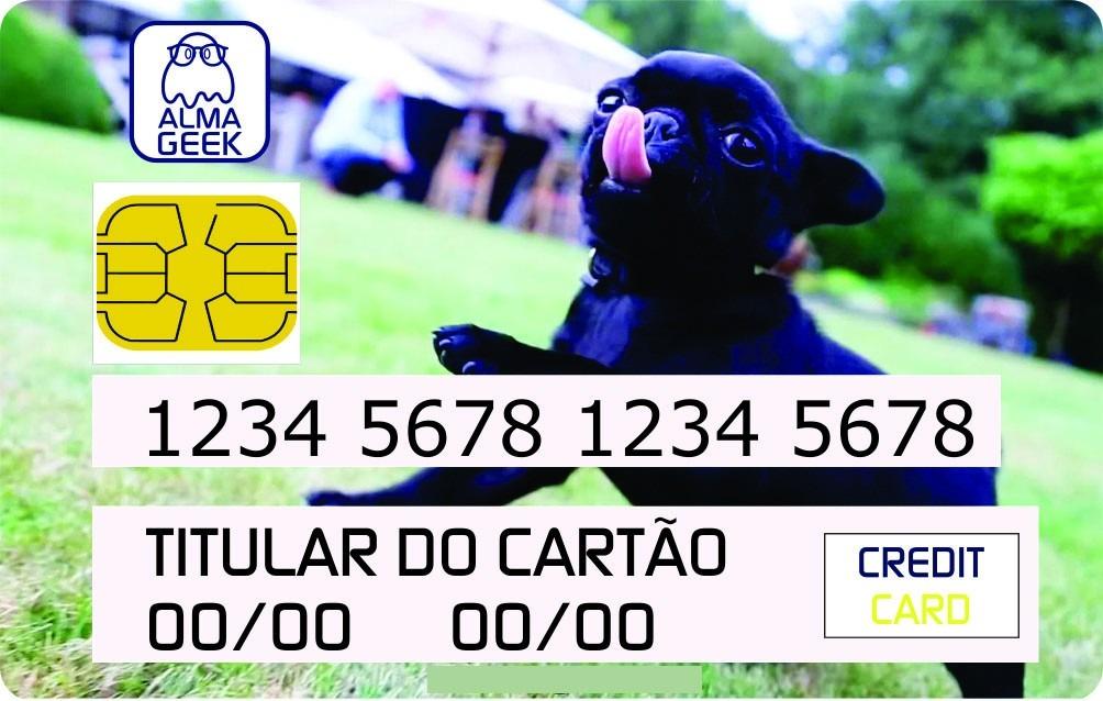 06457c49ff93a Pug Black - Adesivo Cartão De Crédito E Débito - Pug Preto - R  11 ...