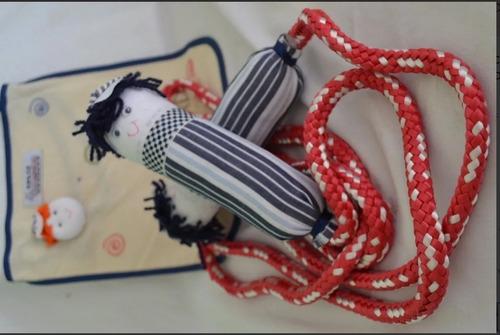 pula corda em tecido - menina ou menino