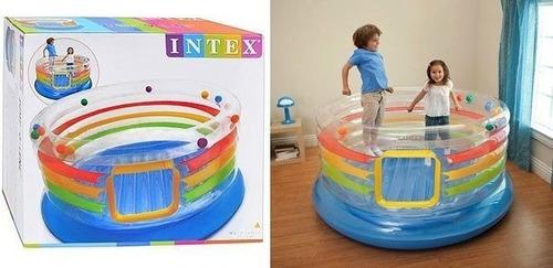 pula pula inflável multi colorido intex jump-o-lene