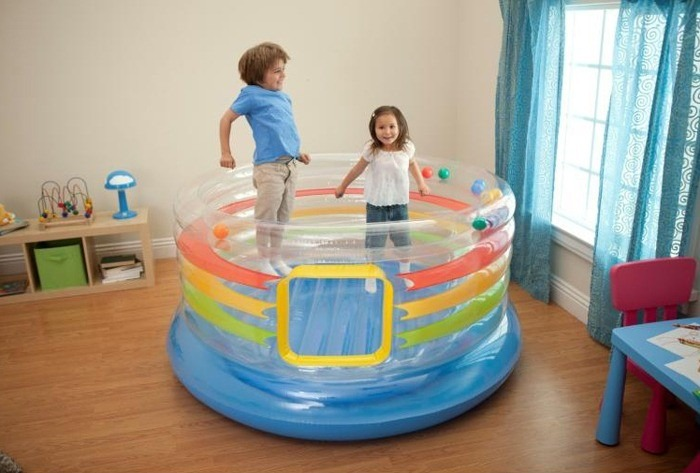 pula pula infl vel multicolorido intex cama elastica festa r 278 00 em mercado livre. Black Bedroom Furniture Sets. Home Design Ideas