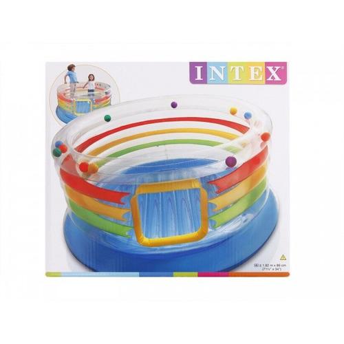 pula pula inflável trampolim cercadinho multicolorido intex