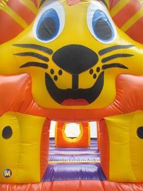 pula pula leãozinho 3x3m inflável - frete grátis