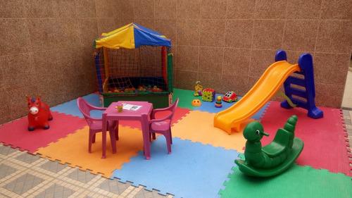 pula pula tobogã piscina de bolinhas castelinho área baby