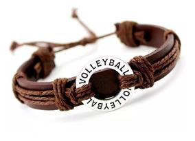 ed1315085712 Pulcera De Moda Unisex Dije Voleibol