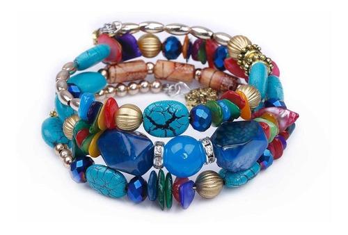 pulcera piedras cristal  ajustable  para las mujeres