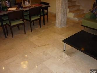 pulida, pisos en mármol, granito tratamiento cristalizado.