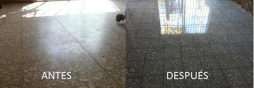 pulido de mosaicos y de parquet