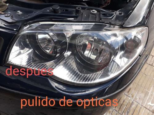 pulido de opticas de automovil