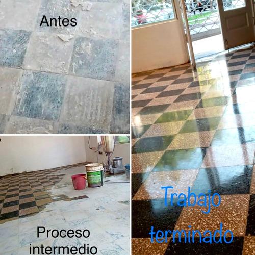 pulido de pisos hormigon - mosaico - marmol - vitrificados