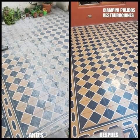 pulido mosaico mármol calcáreo. pisos, escaleras, mesadas.