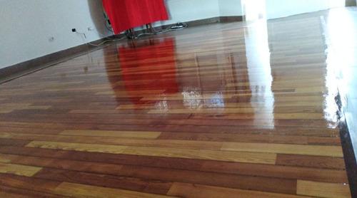 pulido plastificado de parquet hidrolaqueado ($250 x m2)