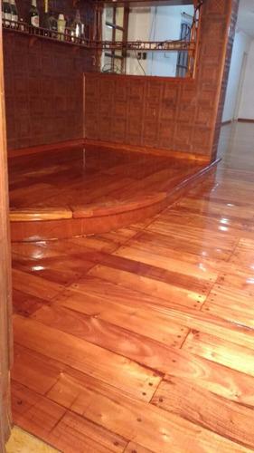 pulido, plastificado de pisos de madera, parquets, mosaicos.