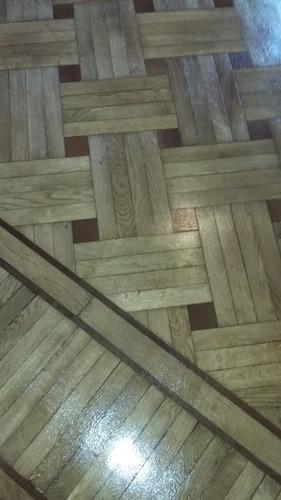 pulido plastificado e hidrolaqueado madera y mosaico