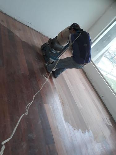 pulido sin polvo $ 7  piso flotante instalacion de madera