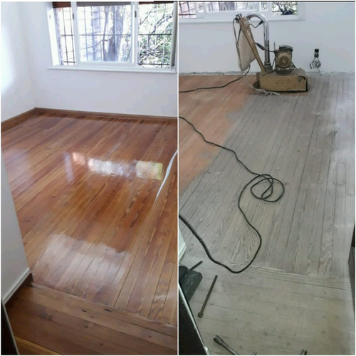 pulido y plasificado de pisos de madera