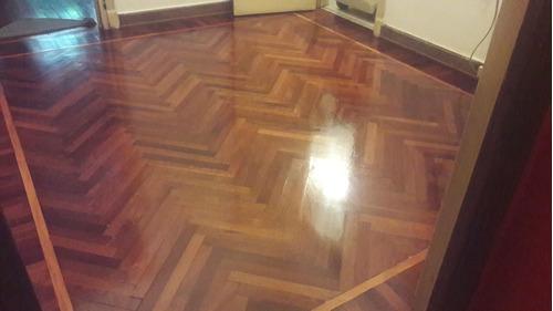 pulido y plastificado de piso de madera