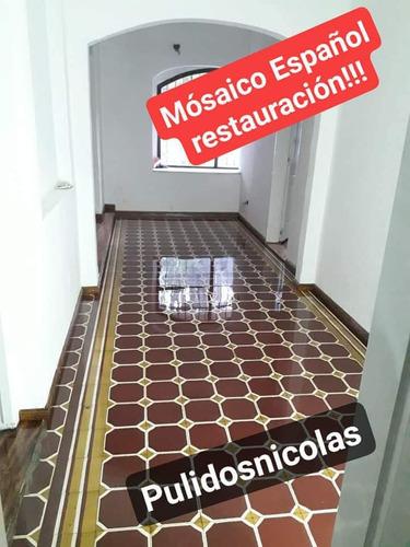 pulido y plástificado de pisos de madera mosaico mármol!!!