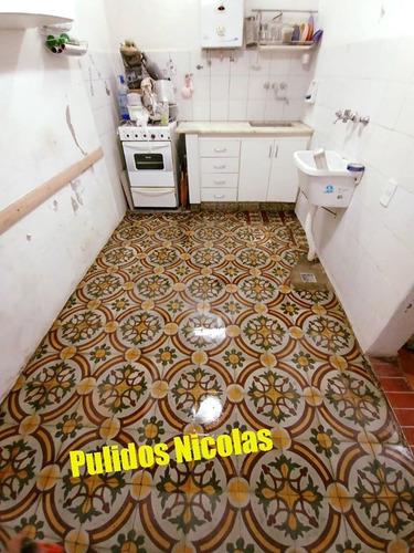 pulido y plastificado de pisos de madera  mosaicos y marmol!