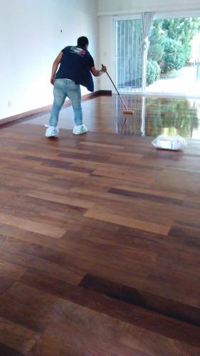 pulido y plastificado de pisos de parquet y tabla
