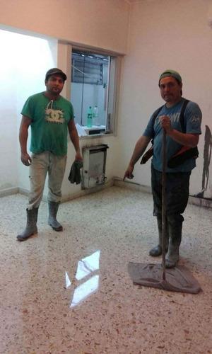 pulido y plastificado de pisos - pulido mosaicos