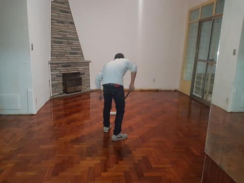 pulido y plastificado e hidrolaqueado de pisos de madera