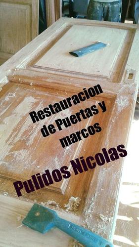 pulido y plastificado  hidrolaqueado restauracion de puertas