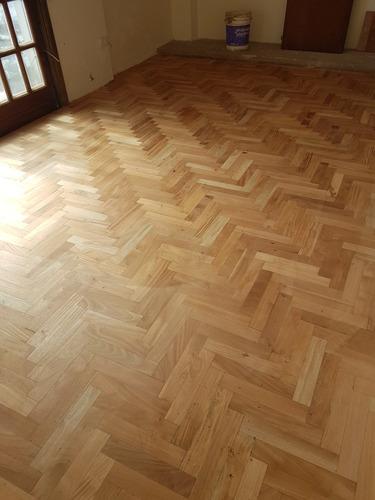 pulido y platificado de pisos de madera
