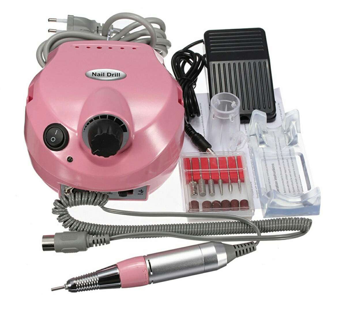Pulidor De Uñas Electrico Profesional Incluye Pedal Manicure - S ...